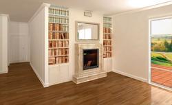 Wnętrze z kominkiem w stylu klasycznym. Jak dobrać materiały wykończeniowe?