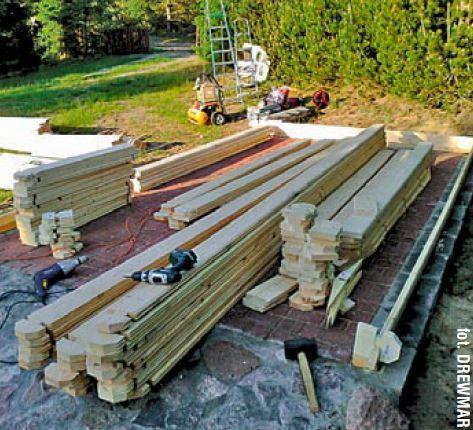 Montaż garażu drewnianego