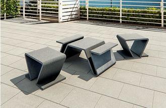 Meble ogrodowe z betonu