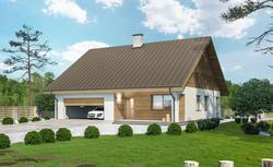 Jak dodobrać kolor elewacji do rodzaju pokrycia dachowego? Wizualizacja elewacji projektu Miarodajny