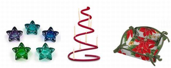 Ozdoby świąteczne - świeczniki i koszyk