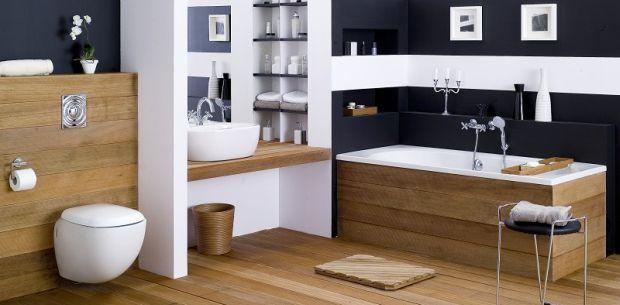 Aranżacja łazienki - łazienka w pasy