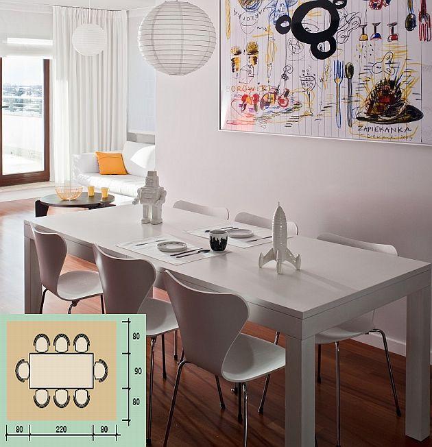 Stół: wygodna jadalnia. Wybieramy stoły do salonu, kuchni i jadalni. Ile miejsca zajmie stół prostokątny, ile okrągły?
